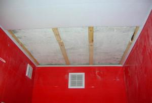 Фото: Деревянный каркас для навесного потолка ПВХ