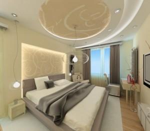 Фото: Дизайн потолка в спальне