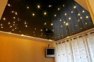 Фото: Потолок в виде звёздного неба