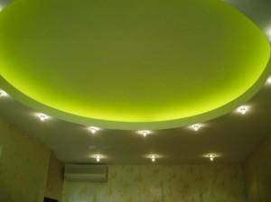 Фото: Подсветка потолка на кухне