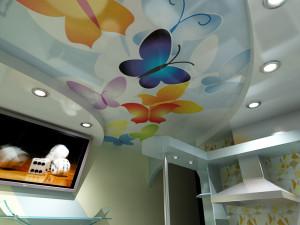Фото: Цветовое решение для потолка