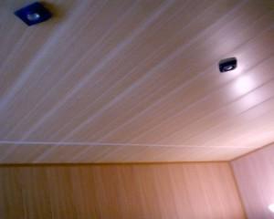 Фото: Пластиковый потолок на кухне