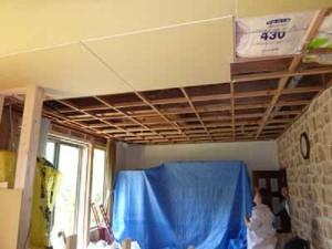 Фото: Разборка потолочного покрытия