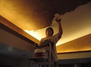 Фото: Шпатлевка потолка