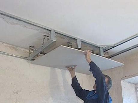 Потолки гипсокартон своими руками фото