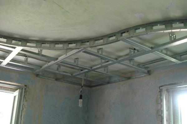 Подвесные потолки из гипсокартона своими руками с подсветкой фото