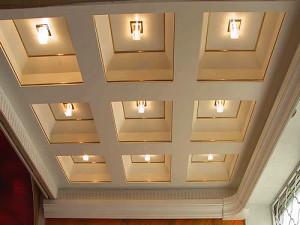 Кессонный потолок из гипсокартона — качественное покрытие своими руками