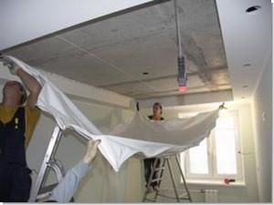Фото: Крепление натяжного потолка к гипсокартону