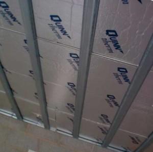 Фото: Монтаж каркаса для натяжного потолка