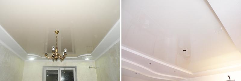 Натяжной потолок или гипсокартон — фото комбинированных ...
