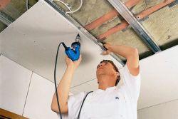 Фото: Как обшить потолок гипсокартоном?
