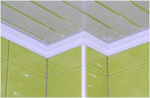 Потолочный пластиковыйплинтус — декор потолка своими руками