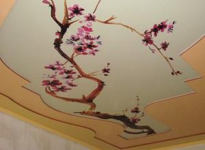 Фото: Тканевые натяжные потолки с фотопечатью