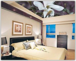 Фото: Тканевый потолок в спальне