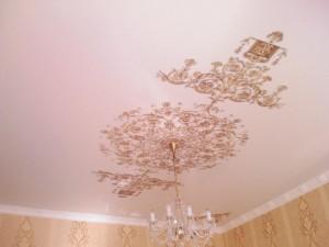Фото: Тканевые натяжные потолки