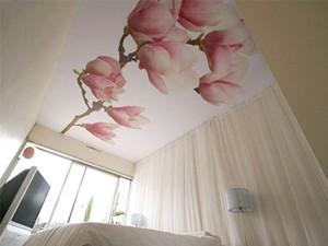 Фото: Потолок из ткани