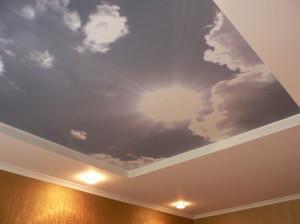 Тканевые двухуровневые натяжные потолки — стильное помещение своими руками