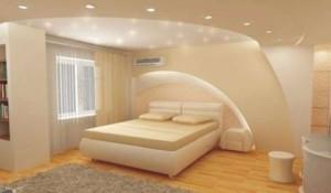 Фото: Гипсокартонный потолок в спальне