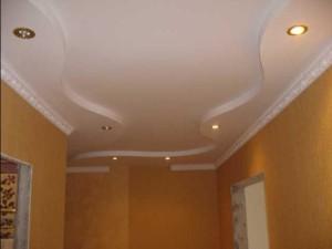 Волна из гипсокартона на потолке — оригинальное покрытие своими руками