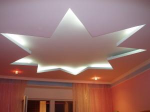 Двухуровневые потолки из гипсокартона — фото помещений сделанных своими руками