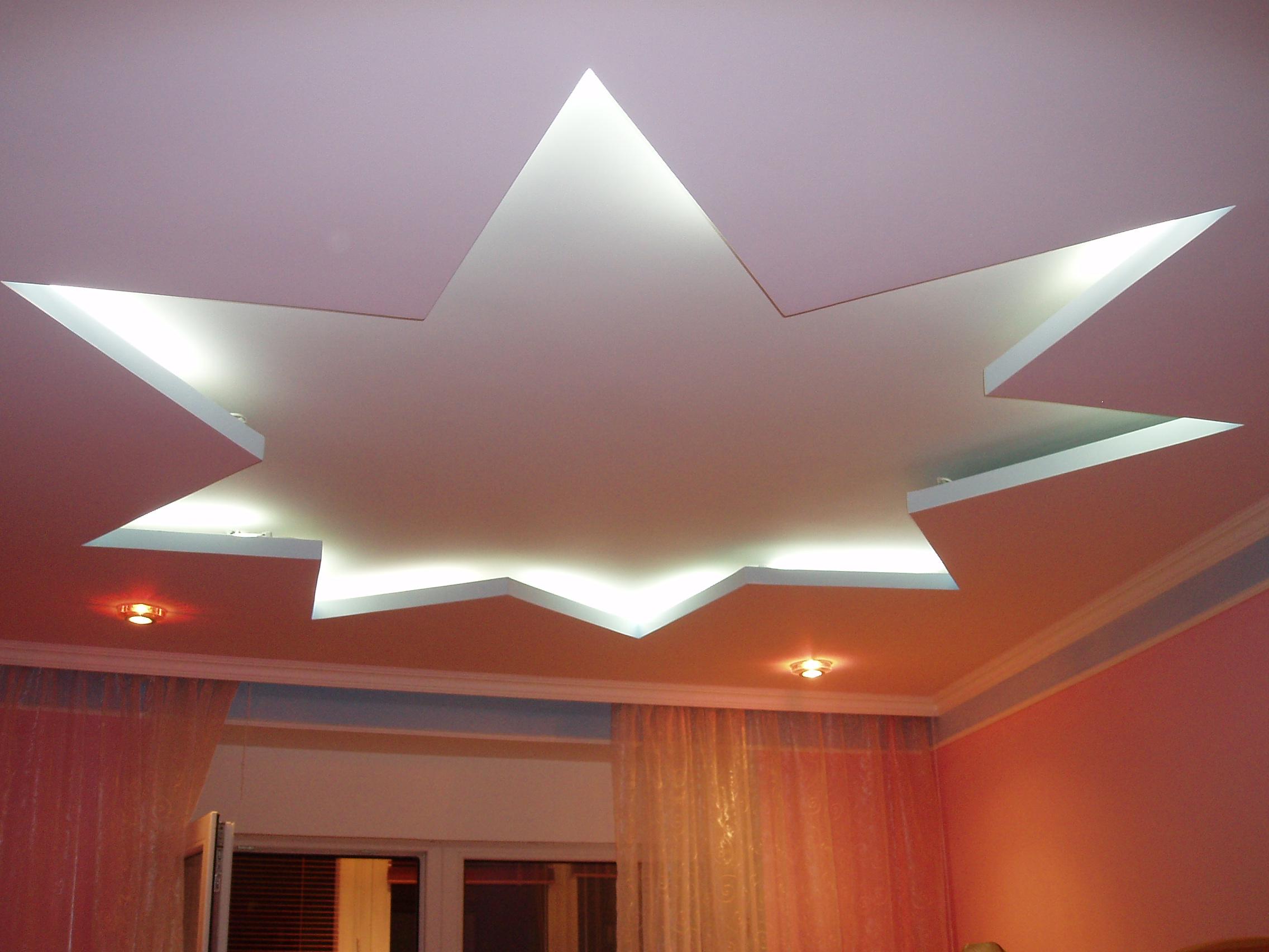Навесной потолок из гипсокартона своими руками фото зала фото 17