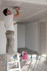 Фото: Шпаклевание потолка