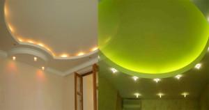 Красивые потолки из гипсокартона — фото декоративных покрытий