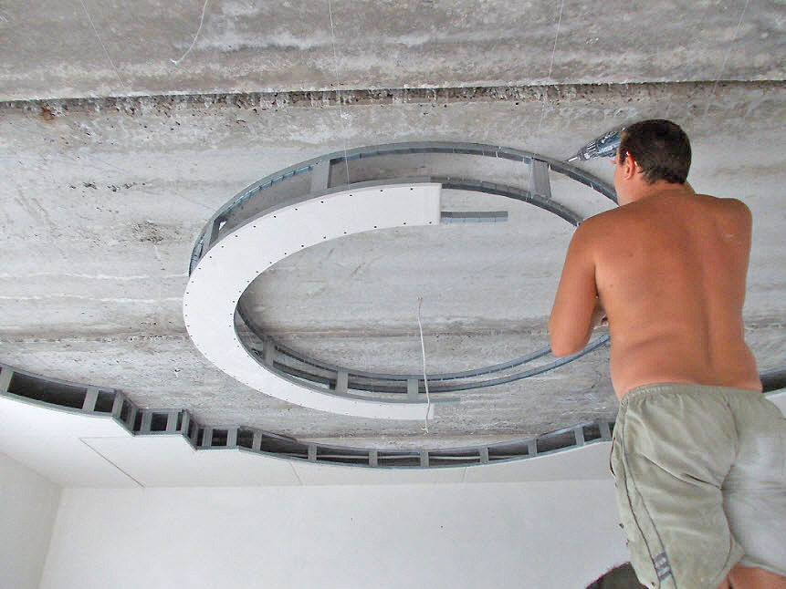Круглый потолок из гипсокартона своими руками пошаговая инструкция с фото 1