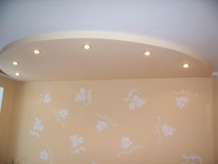 Полукруглые потолки из гипсокартона