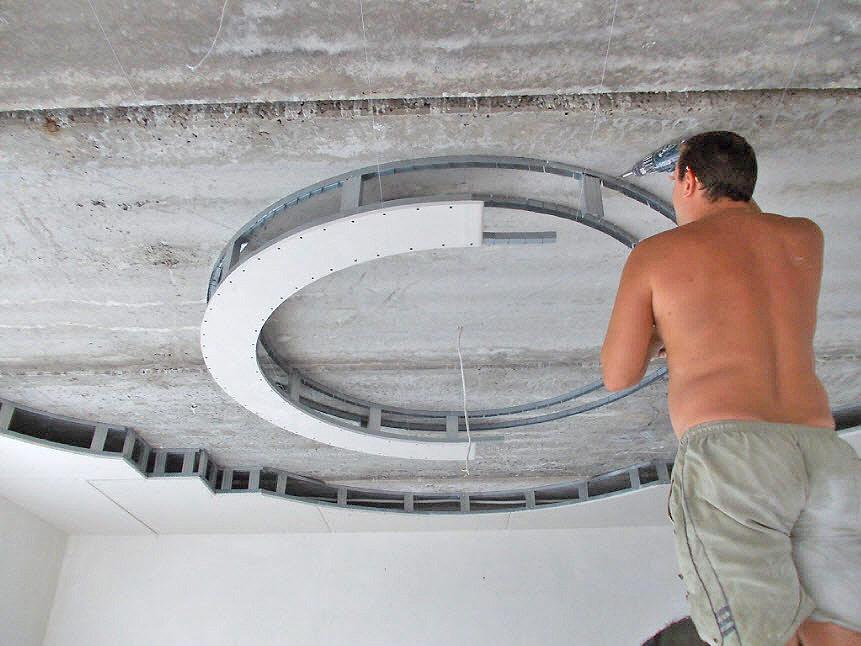узоры на потолке из гипсокартона фото