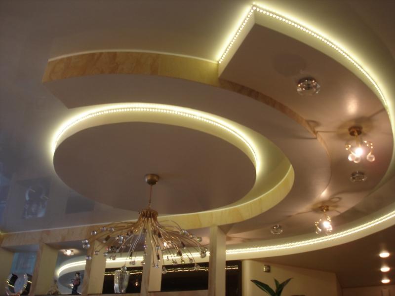 Потолок из гипсокартона, монтаж гипсокартонных потолочных ...