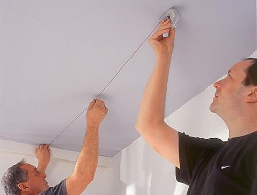 Фото: Как разметить потолок под гипсокартон?