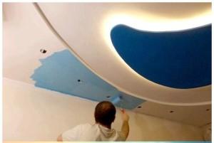 Чем покрасить потолок из гипсокартона?