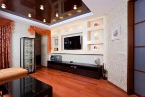 Шоколадные натяжные потолки — необычный интерьер для вашего дома