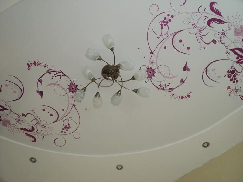 Натяжные потолки с узорами — восхитительные изображения у вас дома