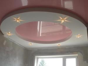 Как сделать двухуровневый натяжной потолок своими руками?