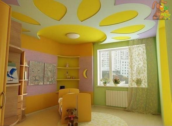 Фото: Поверхность в детской комнате будет положительно влиять на настроение малышей