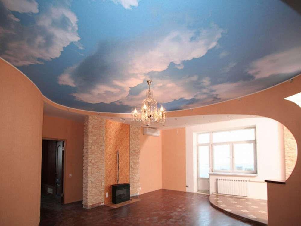 Натяжные потолки «небо» — создание расслабляющей атмосферы