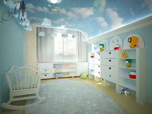 Натяжные потолки в детской — лучший вариант оформления помещения для ребенка
