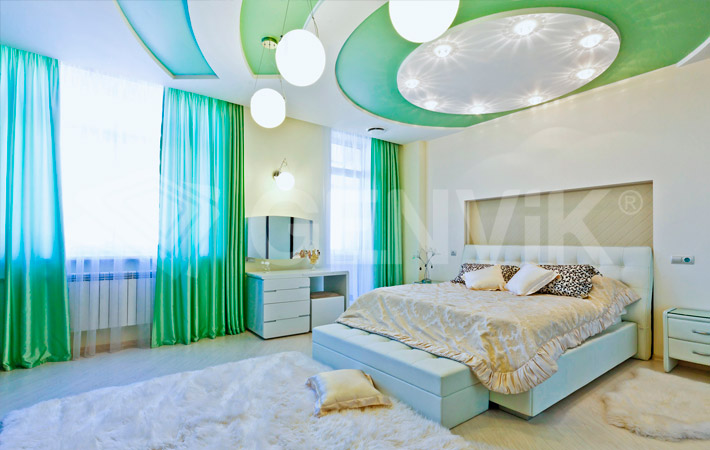Фото: Натяжной сатиновый потолок