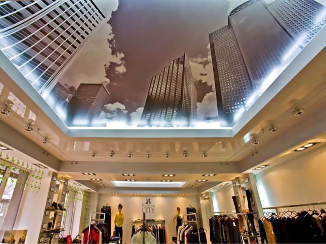Фото: Натяжные потолки 3D