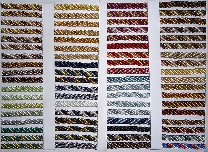 Фото: Разнообразие декоративных шнуров