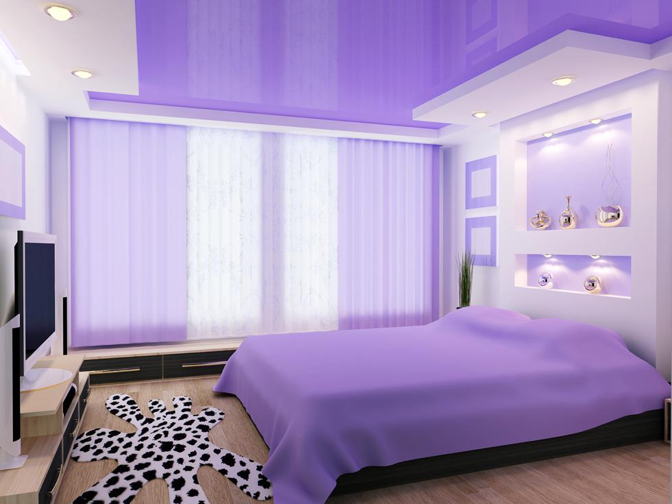 Фото: Вариант потолка в спальне