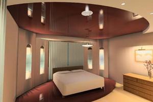Коричневый натяжной потолок — создание элегантности и необычности