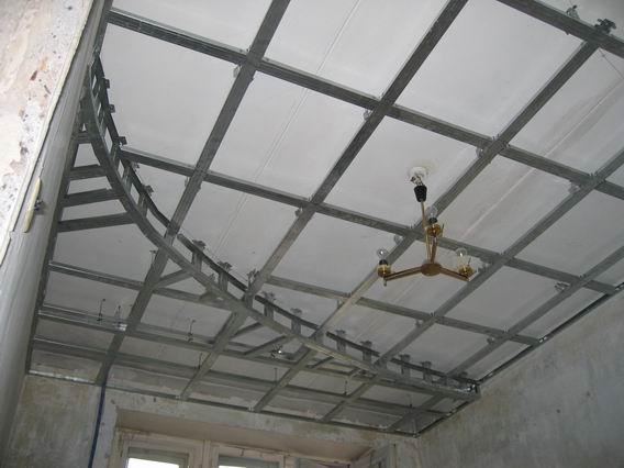 Видео как сделать навесной потолок фото 29