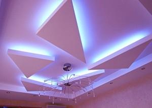 Фото: Парящий потолок из гипсокартона