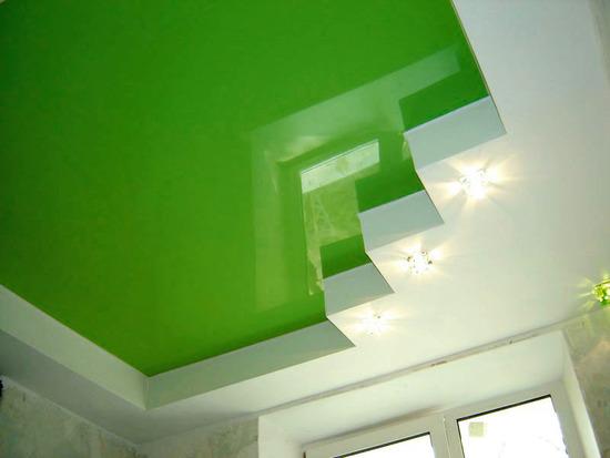 Фото: Зеленый потолок