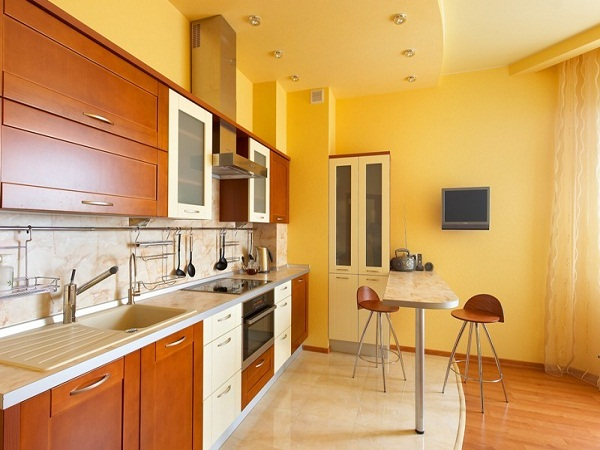 Фото: Навесные потолки на кухню