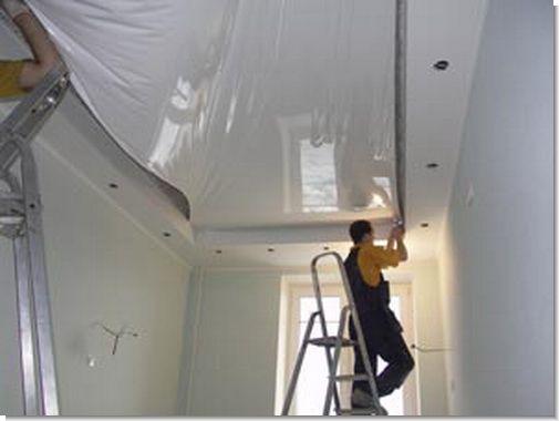 Видео как сделать натяжной потолок