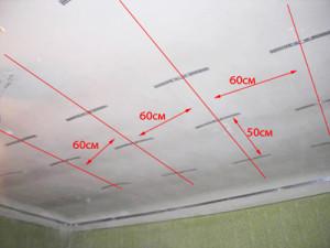 Фото: Разметка потолка
